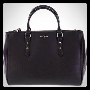 Black pebbled leather Kate Spade tote ♠️👜